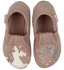 Living Kitzbühel Slippers - Dusty Rose w. Unicorn