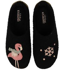 Living Kitzbühel Slippers - Black w. Flamingo