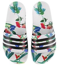adidas Originals Beach Sandals - Adilette W - White w. Flowers