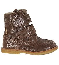 Bisgaard Winter Boots - Tex - Dark Brown w. Silver Dots