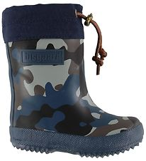Bisgaard Thermo Boots - Blue Camo w. Laces