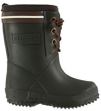 Bisgaard Thermo Boots - Army Green/Brown w. Laces