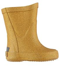 CeLaVi Rubber Boots - Yellow w. Gold Glitter