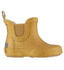 CeLaVi Rubber Boots - Low - Yellow w. Gold Glitter