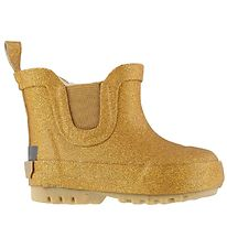 CeLaVi Rubber Boots w. Linning - Low - Yellow w. Gold Glitter