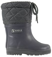 Aigle Thermo Boots - Woody Warm - Charcoal