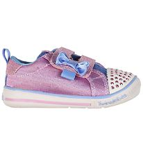 Skechers Sneakers w. Flash - Sparkel Sprinter - Pink/Blue