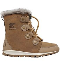 Sorel Winter Boots- Youth Whitney Suede - Natural