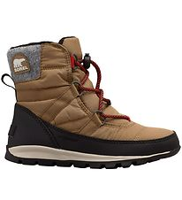 Sorel Winter Boots - Youth Whitney Short Lace - Brown
