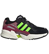 adidas Originals Trainers - Yung-96 J - Black/Bordeaux/Neon Gree