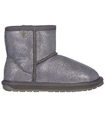 EMU Australia Boots - Wallaby Mini Metallic - Charcoal