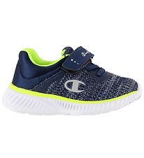 Champion Trainers - Low Cut - Softy B - Navy/Neon Green