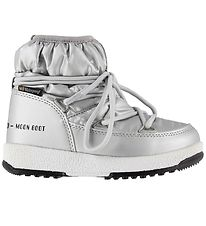 Moon Boot Winter Boots - Tex - JR Low Nylon WP - Silver