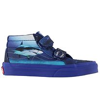 Vans Trainers - Sk8-Mid Reissue V - Blue w. Sharks