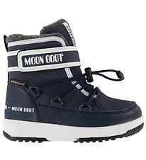 Moon Boot Winter Boots - Tex - JR Boy Boot WP - Navy/White