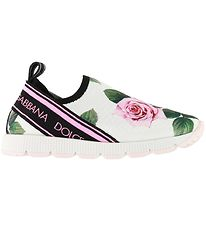 Dolce & Gabbana Slip-On - White w. Roses