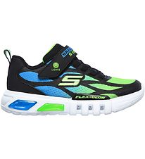Skechers Sneakers w. Flash - Dezlo - Black/Blue/Lime