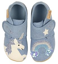 Living Kitzbühel Slippers - Light Blue w. Rainbow/Unicorn