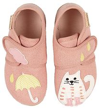 Living Kitzbühel Slippers - Rose w. Cat/Umbrella