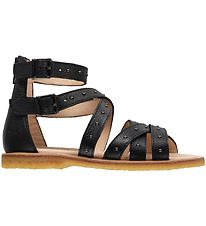 Angulus Sandals - Black w. Rivets