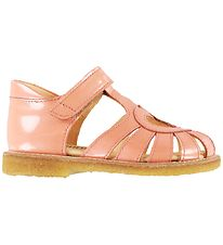 Angulus Sandals - Peach w. Heart
