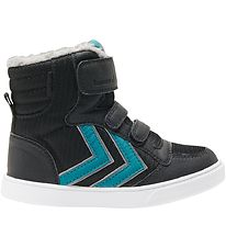 Hummel Winter Boots - Stadil Poly Boot Mid Jr - TEX - Black/Lake