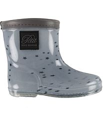 Petit by Sofie Schnoor Rubber Boots - Alfred - Dusty Blue/Stars