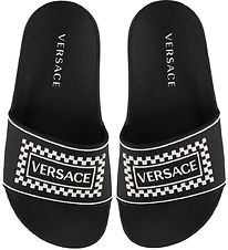 Versace Beach Sandals - Black w. Logo