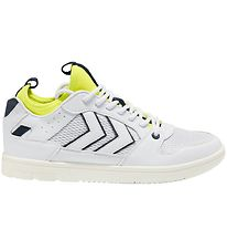 Hummel Sneakers - Power Play Mid TN - White/Safety Yellow