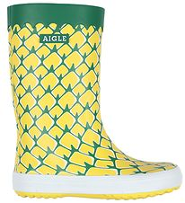 Aigle Rubber Boots - Lolly Pop - Pineapple