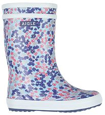 Aigle Rubber Boots - Lolly Pop Vrn - Sandy Blue