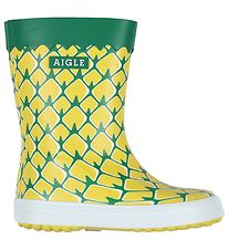 Aigle Rubber Boots - Baby Flac Fun - Pineapple