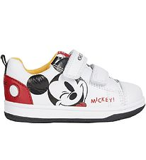 Geox Shoes - Disney - N. Flick - White/Red w. Mickey Mouse