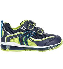 Geox Shoes - Todo - Navy/Lime w. Blinkers
