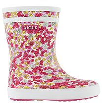 Aigle Rubber Boots - Baby Flac - Sandy Orchide