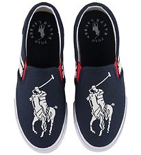 Polo Ralph Lauren Slip-On - Macen - Navy/White w. Logo