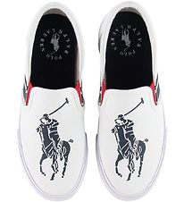 Polo Ralph Lauren Slip-On - Macen - White/Navy w. Logo