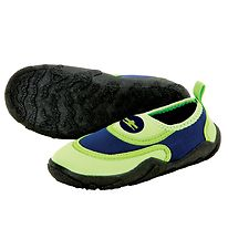 Aqua Lung Beach Shoes - Beachwalker Kids - Bright Green/Navy