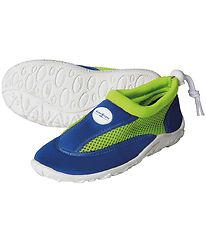 Aqua Lung Beach Shoes - Cancun Jr - Royal Blue/Bright Green