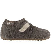 Living Kitzbühel Slippers - Wool - Light Brown w. Velcro