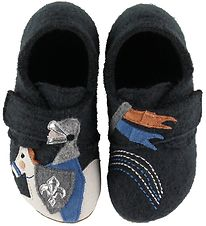 Living Kitzbühel Slippers - Wool - Phantom w. Knight