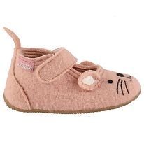 Living Kitzbühel Ballerina Slippers - Wool - Rose Cloud w. Mouse