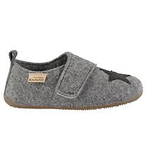 Living Kitzbühel Slippers - Wool - Grey w. Star