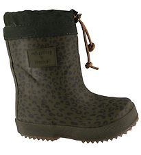 Bisgaard x Soft Gallery Thermo Boots - Green w. Leopard