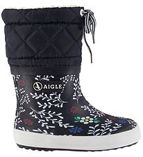 Aigle Thermo Boots - Giboulee Print - Winter Flower