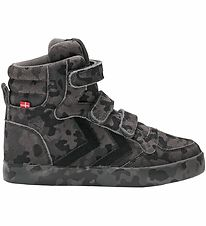 Hummel Shoes - HMLStadil Camo Jr - Black/Charcoal
