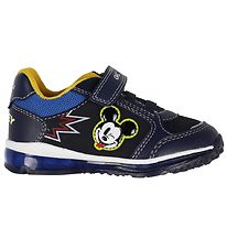 Geox Light-up Shoes - Todo - Navy w. Mickey Mouse