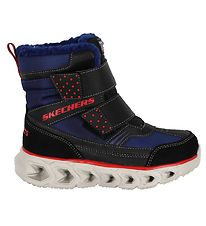 Skechers Winter Boots - Hypno Flash 2.0 - Navy/Black w. Lights