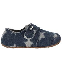 Living Kitzbühel Slippers - Wool - Navy w. Stars