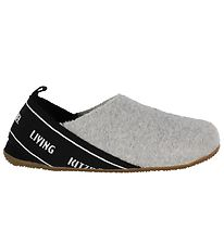 Living Kitzbühel Slippers - Wool - Light Grey/Black